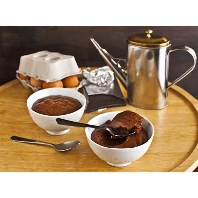 Mousse de chocolate y aceite