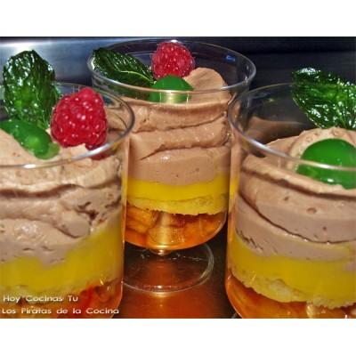Mousse de chocolate y azafrán